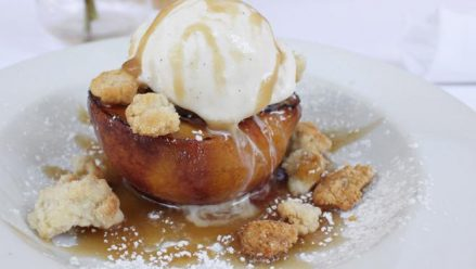 Sage Restaurant- Original Grilled Peach Cobbler